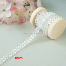 Wholesale wedding artificial white plastic pearl beads chain garland 5designs/set