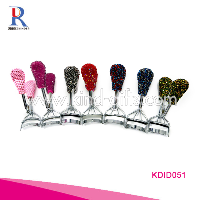 Free sample Crystal bead eyelash holder eyelash curler rhinestone