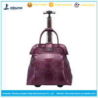 Women's waterproof briefcase rolling laptop bag trolley tote bag
