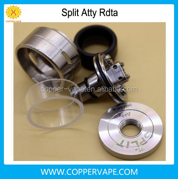 Coppervape top quality split atty 316SS 22mm 1.3ml split atty atomizer single dual coil