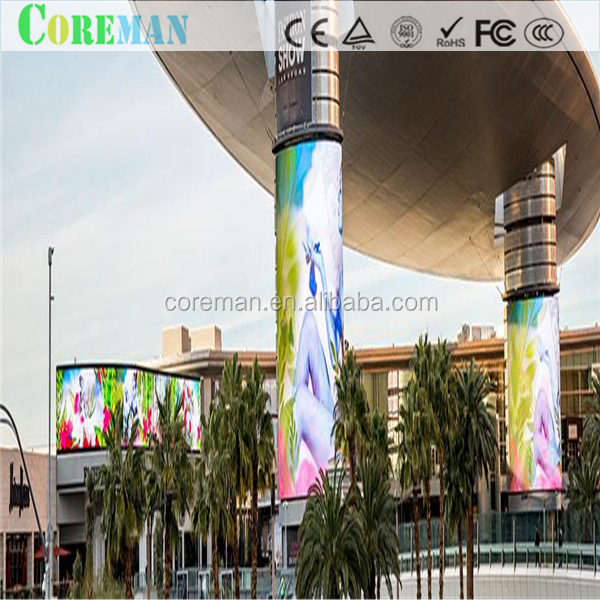 COREMAN p6.67p10 soft led module p6.67video play led screen flexible oled curved led video wall