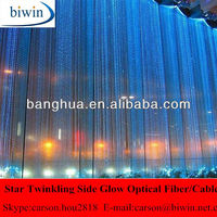 Transparent PVC Coated Optical Fiber Waterfall Curtains Lights