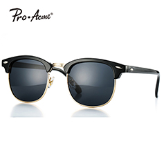 Retro Driving Polarized Sunglasses for Men Women Al-Mg Metal Frame PA1060