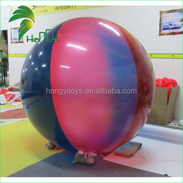 Colorful Inflatable Beach Ball Self Inflating Balloons With Custom