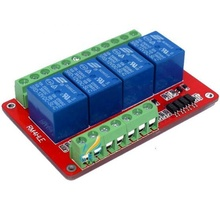 RM4HLE 4 Relay Module Expansion Board Bidirectional Optocoupler Isolation H/L Optional 5 <strong>12</strong> 24V