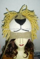 Lion Face Knitted Winter Cap