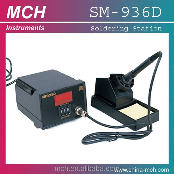 New LED display SM-936B 200-480 degrees Hot air Tweezer Repairing rework iron soldering station