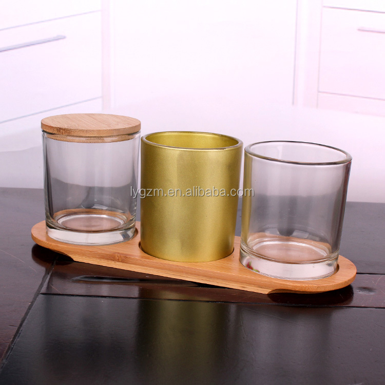 Round jar candle holders glass cheap empty candle jars with cork lids