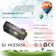 Sunjoy Excellent printing quality CE505A toner cartridge 05A for HP 2035 2055 laserjet printer