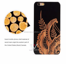 carbonized bamboo wooden engraving cell phone case for iphone SE,mobile phone accessories
