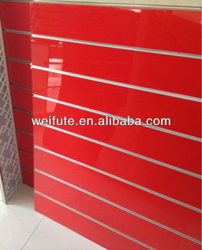 UV High Glossy Slatwall Panel