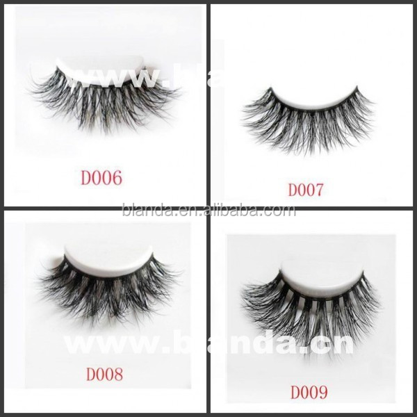 Private Label Packaging Handcrafted 3D Mink Fur Strip Eyelashes
