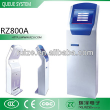 LCD Touch Display Screen Ticket Dispenser Queue Machine