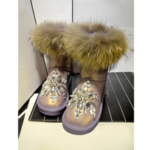 Aidocrystal 2016 NEW women winter shoes cheap snow boots Diamond Bling boots For Girls
