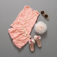 2016 newest style kids clothes baby girls summer clothes 1 set casual pink rose top and short clothing sets