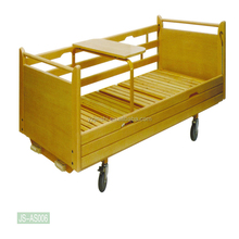Factory Prices Multifunctional Nursing Equipement Furniture Double-Crank Hospital Manual Wooden Beds