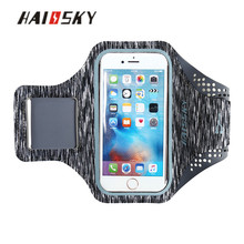 HAISSKY 2017 New Personized Lycra Men Armband Case 5.5 inch Mobile Phones Running Fabric Sport Armband for Iphone 7