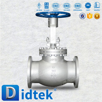 Didtek BS1873 Cast Steel/Stainless Steel Steam Rising Stem Bolted Bonnet Flange End Globe Valve