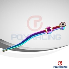 PQY STORE-NEO CHROME High performance Short shifter Dual Bend JDM Type-R 5 Speed Racing Short Shifter For HONDA ACURA CRX