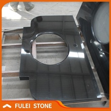 Natural Customized Mongolia Black Solid Color Granite Countertops