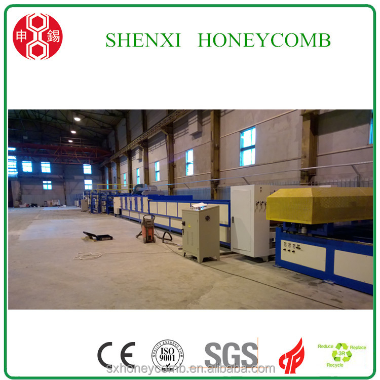 100mm thickness Door making honeycomb paper machine for paper pads