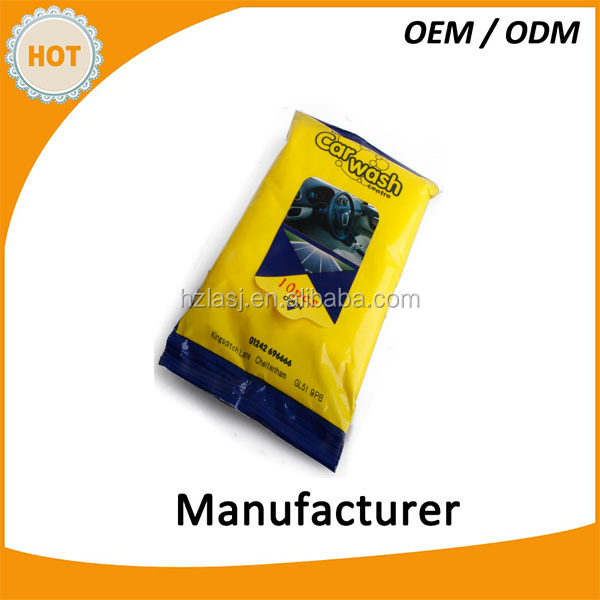Auto wet wipes disposable car cleaning items interior fabrics car wash wipes