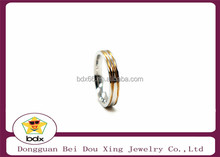 High Quality Couple Rings for Women Men Cubic Zirconia Wedding Ring18K Gold Plated Wedding Rings Stainless Steel Female Jewelry