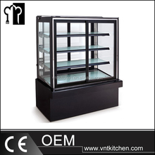 cake show case Fusion Black Curved Glass Refrigerated Deli Case