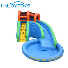 Giant inflatables water slide with pool water slide for sale