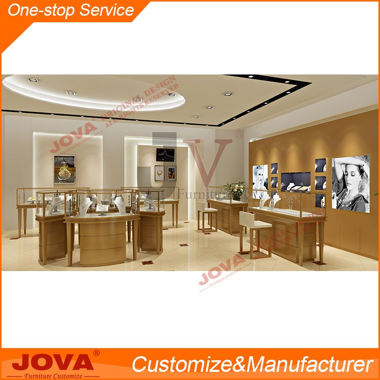 New Style Cabinet Shop Wooden Furniture Modern Hot Jewellery Wall Wood Designs Watch Display Glass Jewelry Showcase