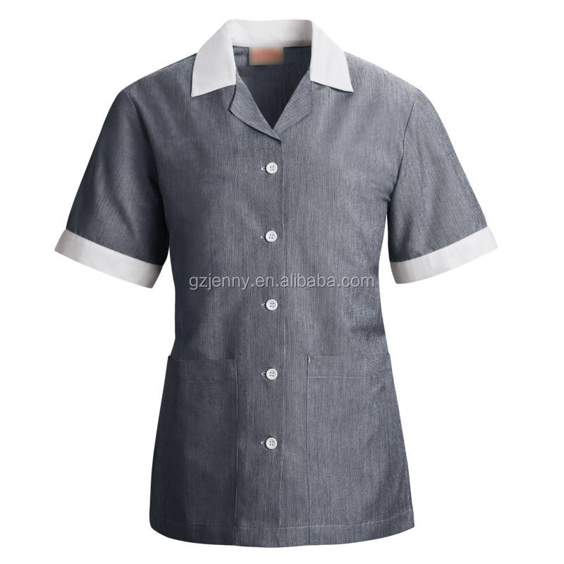 Wholsale Custom Hotel Housekeeping Uniform Designs
