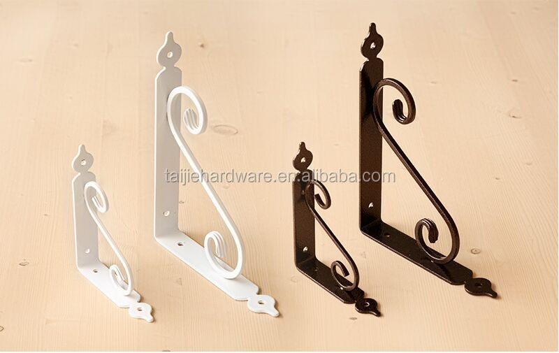 4 sizes of concealed workstation shelf bracket in steel
