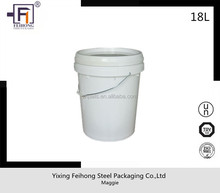 virgin pp 1gallon/5gallon round plastic paint pail/bucekt/drum with metal/plastic handle and lid for liquid/oil/gasoline