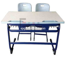 Molding edge Student Double Desk and Chair for School Grade 1 to Grade 12