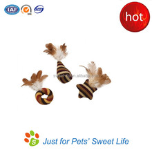 Quality and handmade Cat Toy Feather Knits Cat Toy