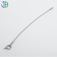 PVC coated Stainless Steel Wire Rope Pressed Lifting Sling with Clamps