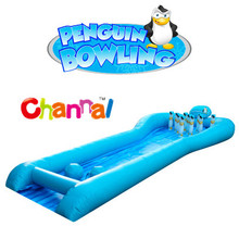 PENGUIN BOWLING Game inflatable bowling game for kids & adults