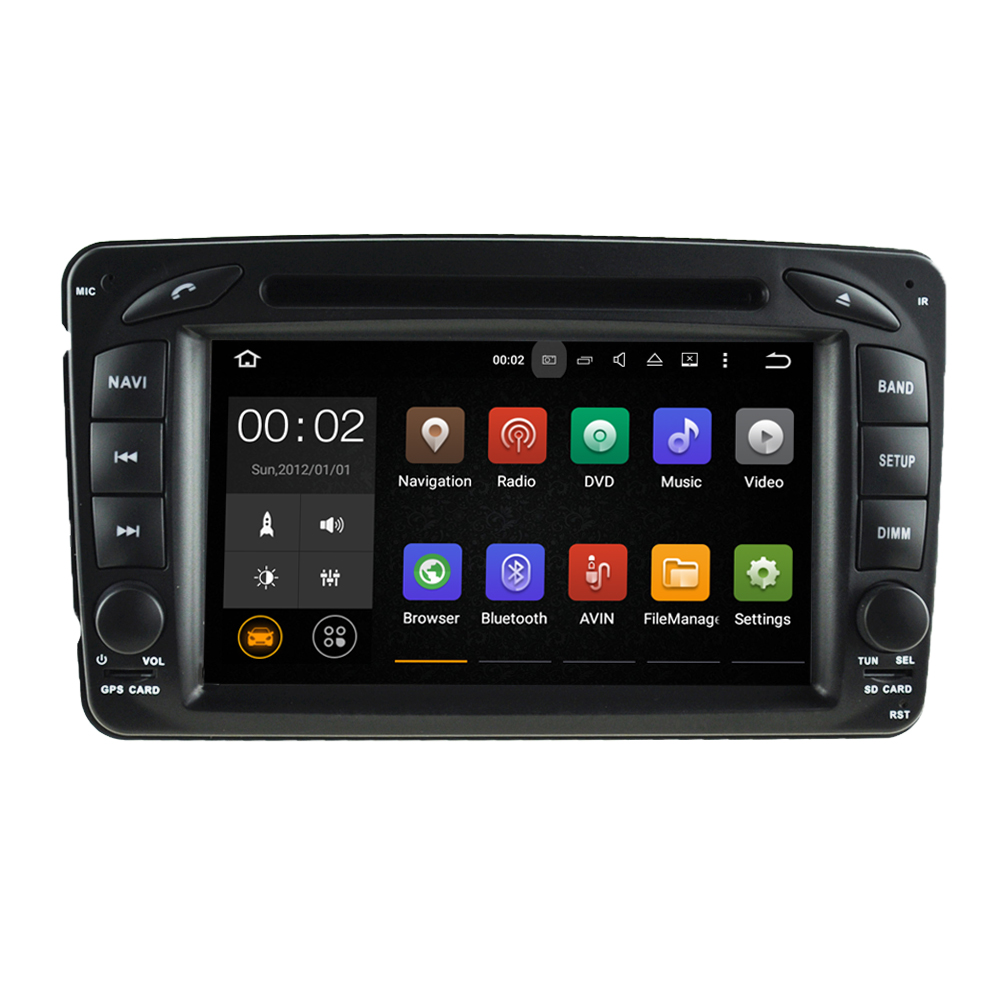 "7"" 1024*600 Quad core 2DIN Pure Android 5.1.1 Car DVD GPS Player forMERCEDESBENZ CLK W209 M <strong>W163</strong> With WIFI Bluetooth Mirror-link"