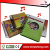 Wholesale School supplies cardboard cover matte lamination thick spiral notebook