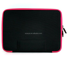 Protection Pack for Apple iPad: Hard Shell EVA Case (Hot Pink) Silicone Skin Case (Green) with Carabiner Key Chain