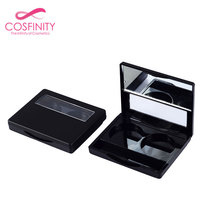Wholesale eyeshadow palette packaging empty cosmetic compact powder case private label eye shadow palette with brush wells