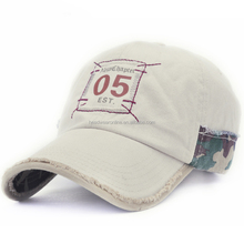 Mens Pigment Dyed Washed Cotton Cap - Adjustable Hat