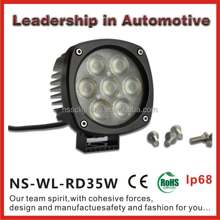 Super bright 35w cree led work light spotlight driving light, led working light with IP68, Emark&RoHs Certificates