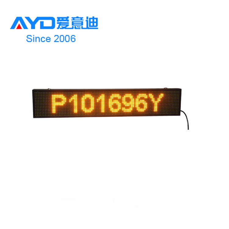 Hot Sale Yellow <strong>Amber</strong> Color Welcome 16*160 Aluminum Profile for <strong>P10</strong> LED Sign for Bus