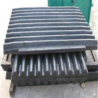 Casting High Manganese Steel Jaw Plate used for Jaw Crusher