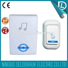 Rich experience in OEM voice 100m cordless remote control doorbell with indicator