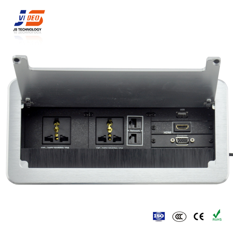 JS-Z300 aluminium electrical outlet multiple power supply socket
