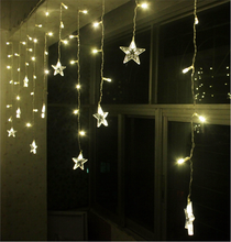 hot sale led star drop curtain,moving led light christmas lights