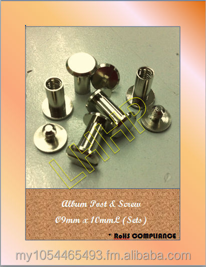 Album Screw & Post Dia 9mm x 10mmL
