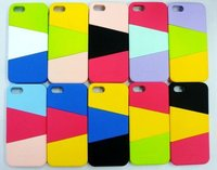 New mobile phone cover assorted color combined case for iPhone 5 each in detail box